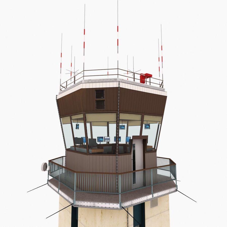 Tour de contrôle du trafic aérien royalty-free 3d model - Preview no. 10