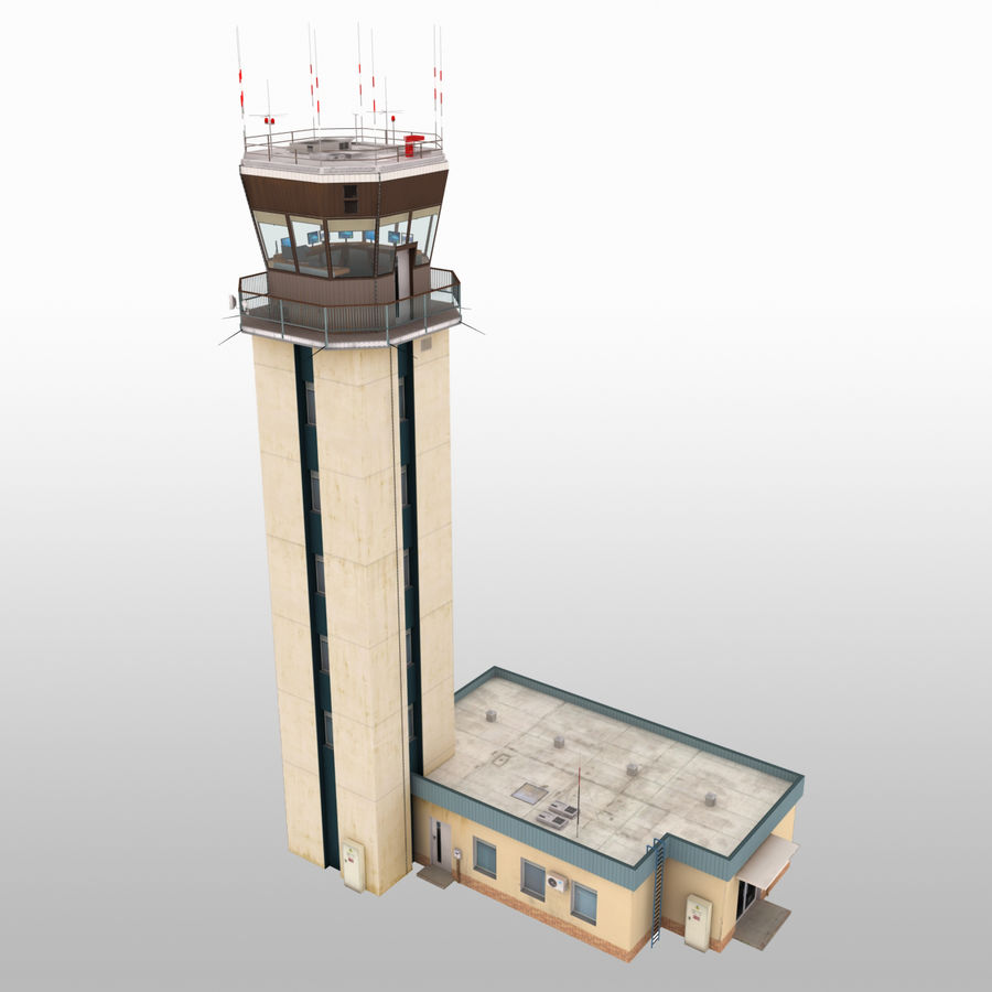 Air Traffic Control Tower royalty-free 3d model - Preview no. 1