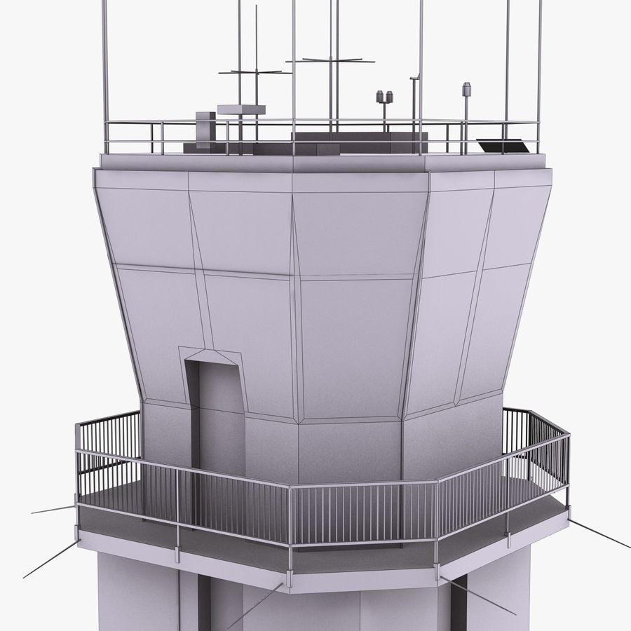 Air Traffic Control Tower royalty-free 3d model - Preview no. 17
