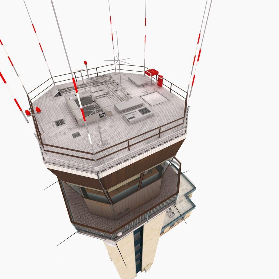 Tour de contrôle du trafic aérien royalty-free 3d model - Preview no. 11