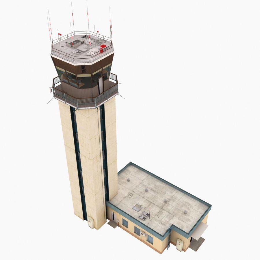 Tour de contrôle du trafic aérien royalty-free 3d model - Preview no. 3
