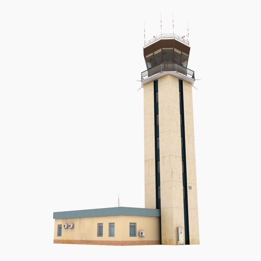 Air Traffic Control Tower royalty-free 3d model - Preview no. 4