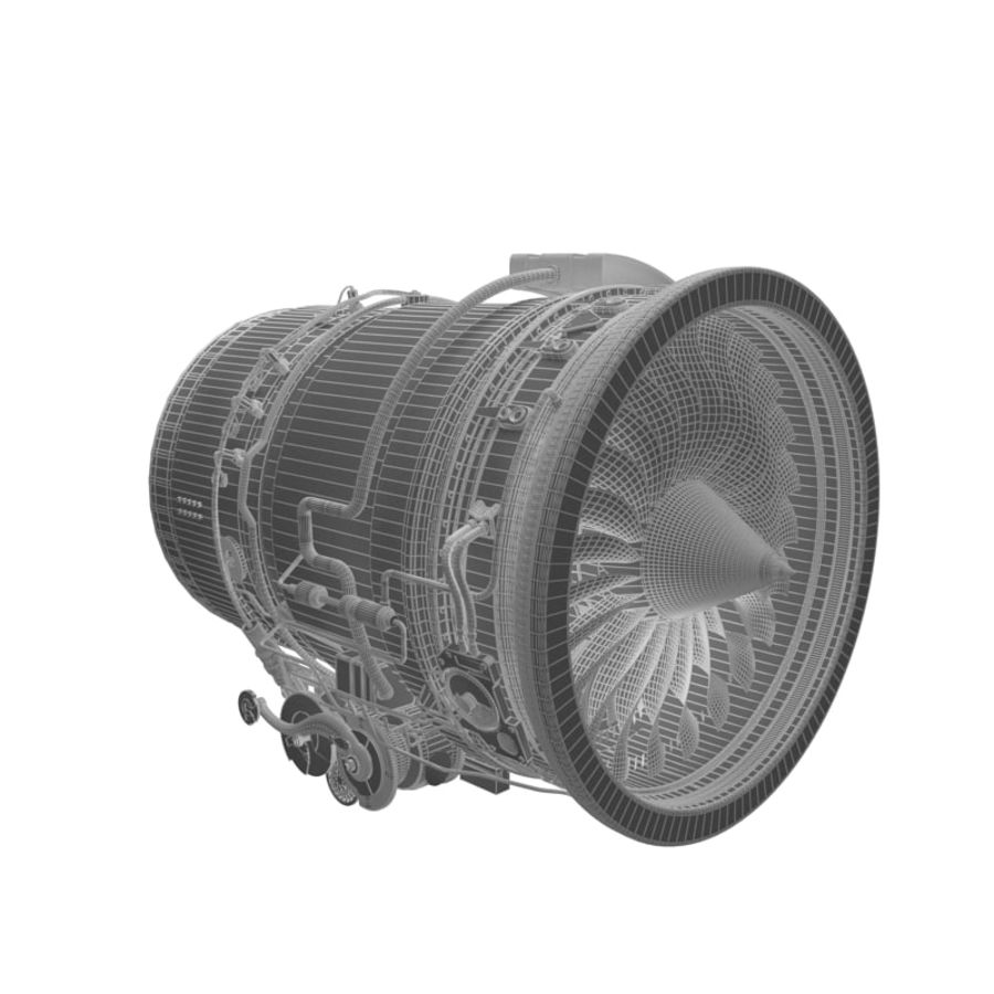 Aircraft engine royalty-free 3d model - Preview no. 4