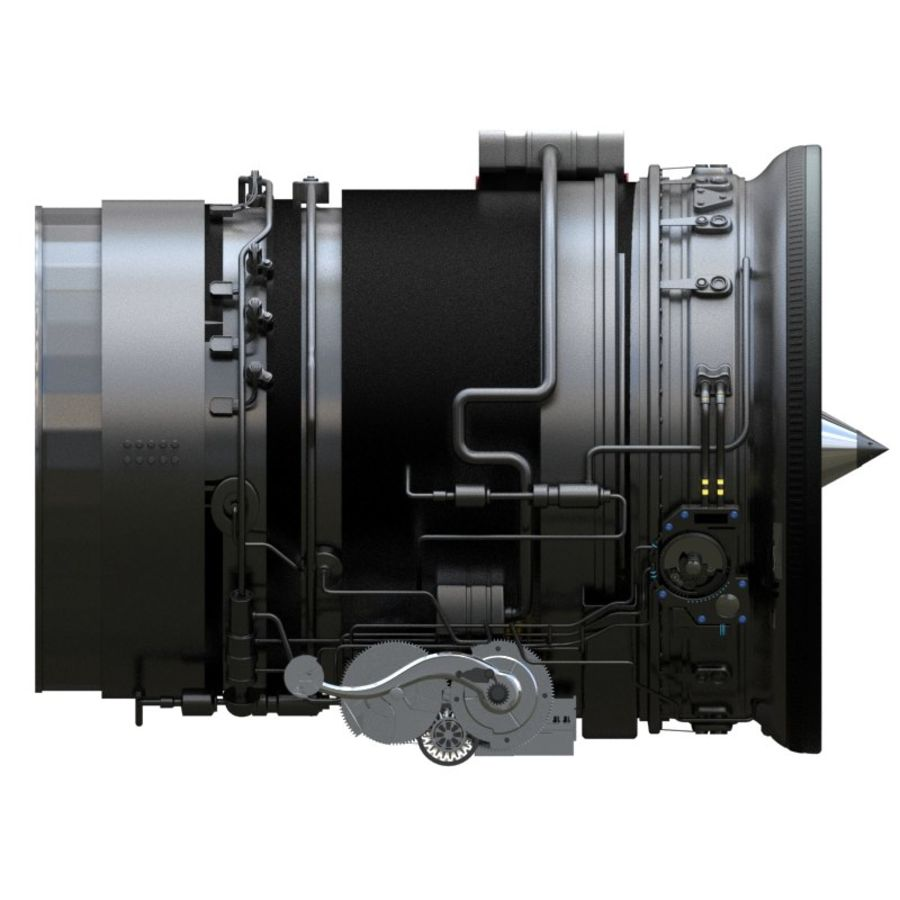 Aircraft engine royalty-free 3d model - Preview no. 3