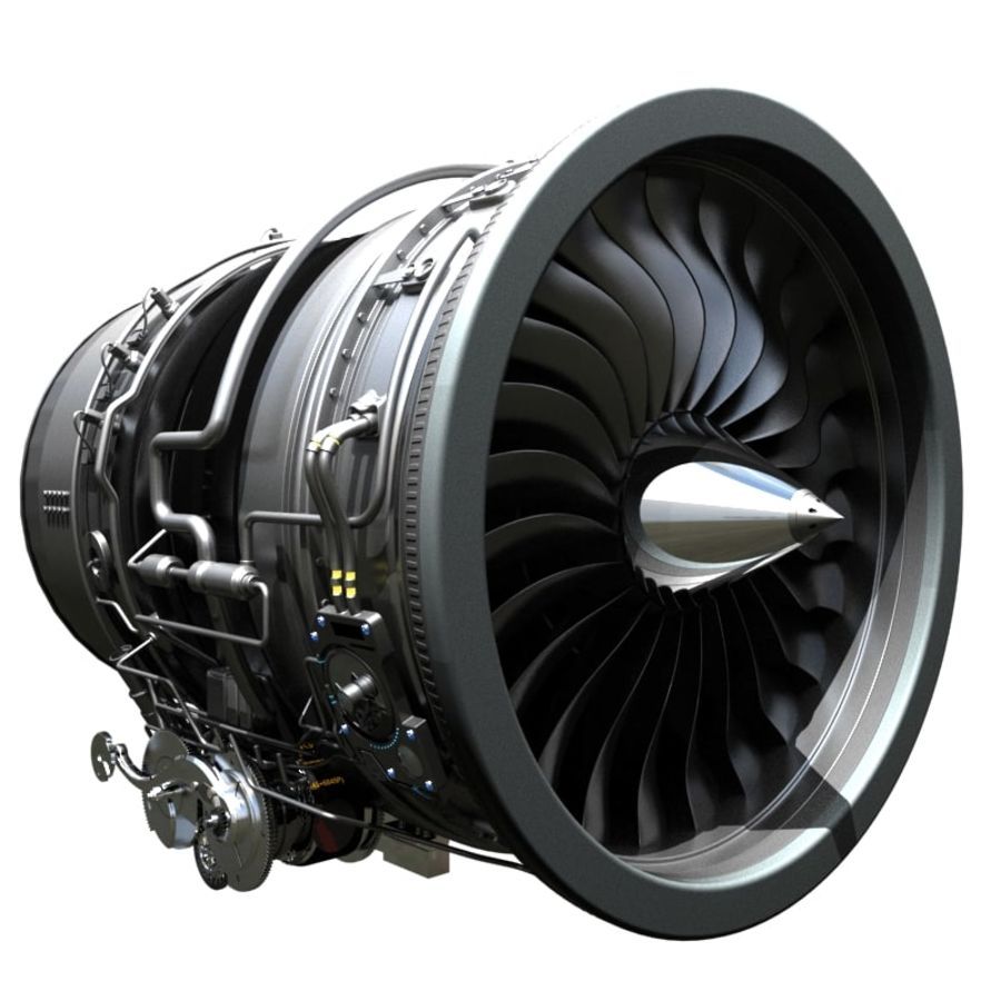 Aircraft engine royalty-free 3d model - Preview no. 1