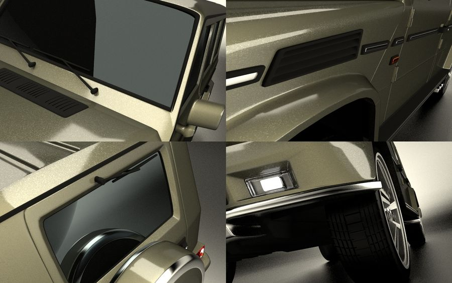 G-Class Mercedes Benz royalty-free 3d model - Preview no. 10