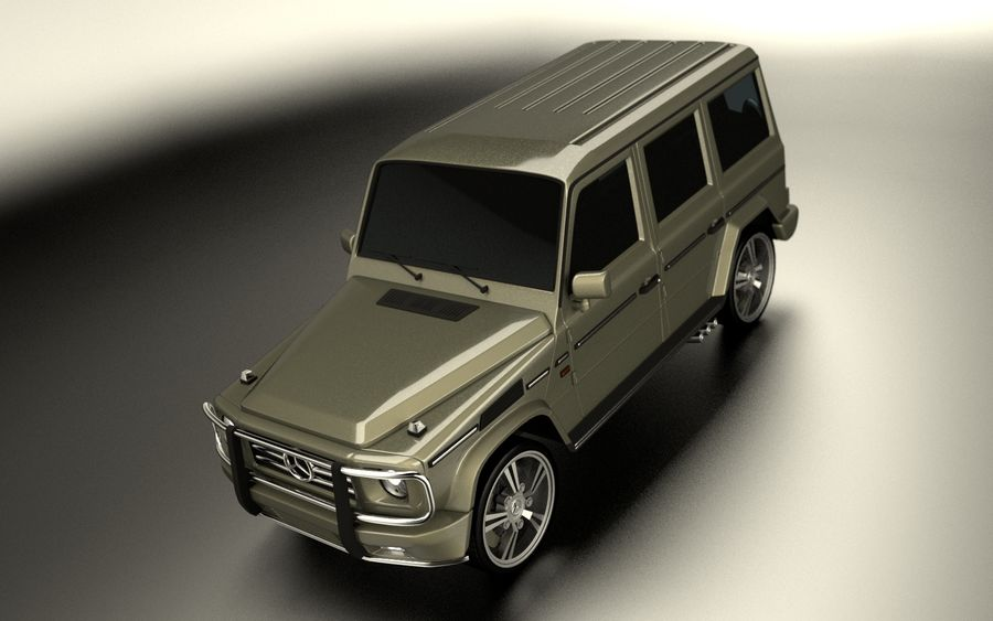 G-Class Mercedes Benz royalty-free 3d model - Preview no. 5