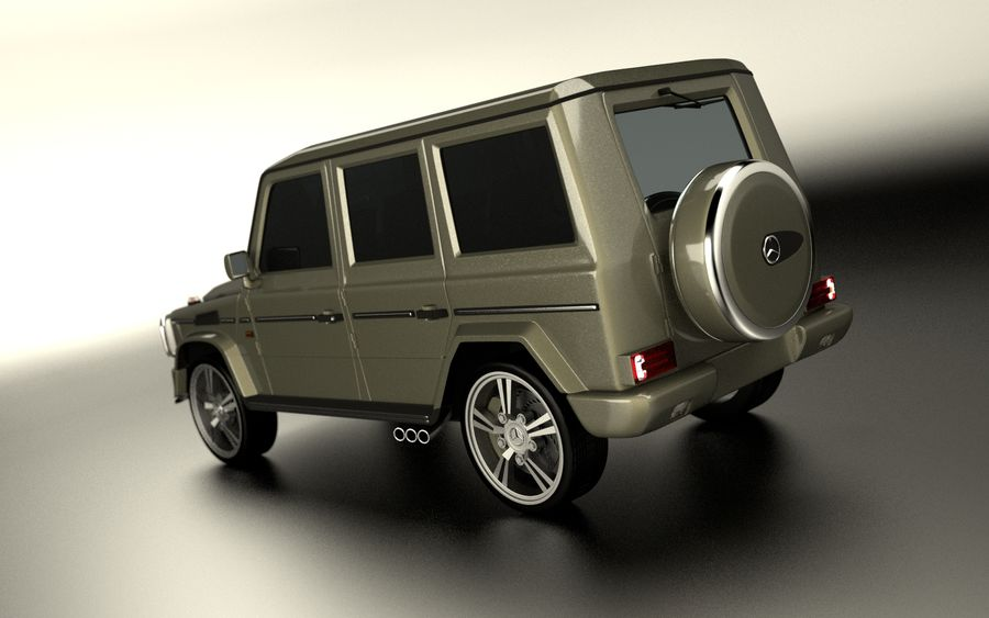 G-Class Mercedes Benz royalty-free 3d model - Preview no. 3