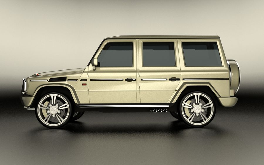 G-Class Mercedes Benz royalty-free 3d model - Preview no. 8
