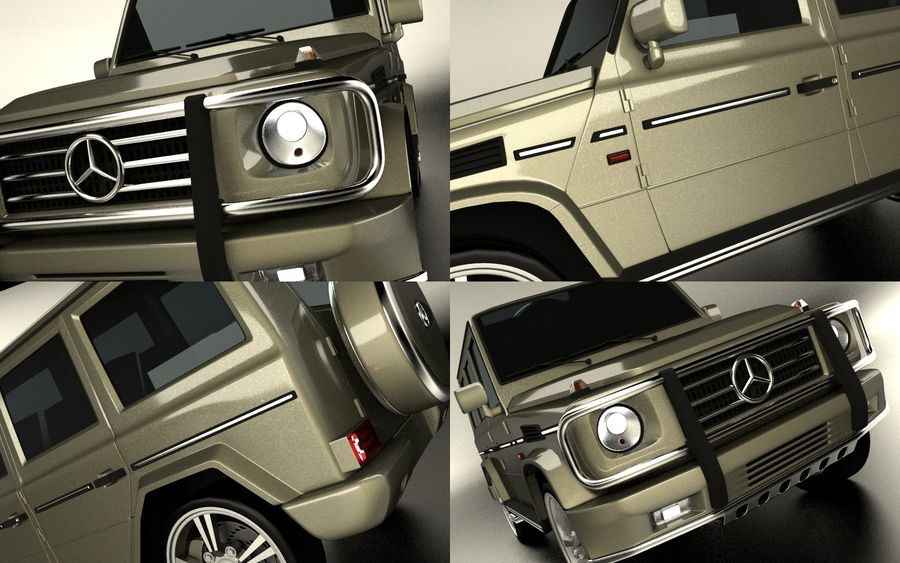 G-Class Mercedes Benz royalty-free 3d model - Preview no. 9