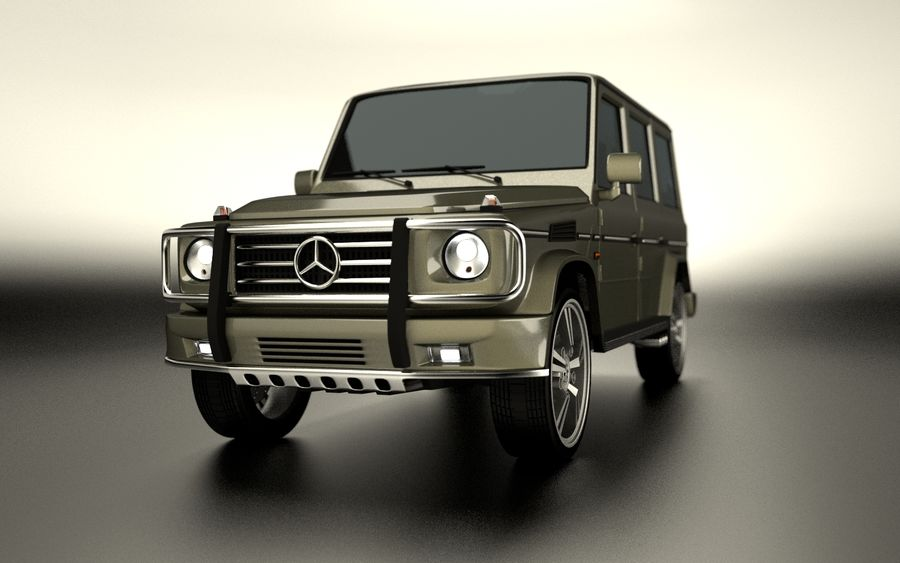 G-Class Mercedes Benz royalty-free 3d model - Preview no. 6
