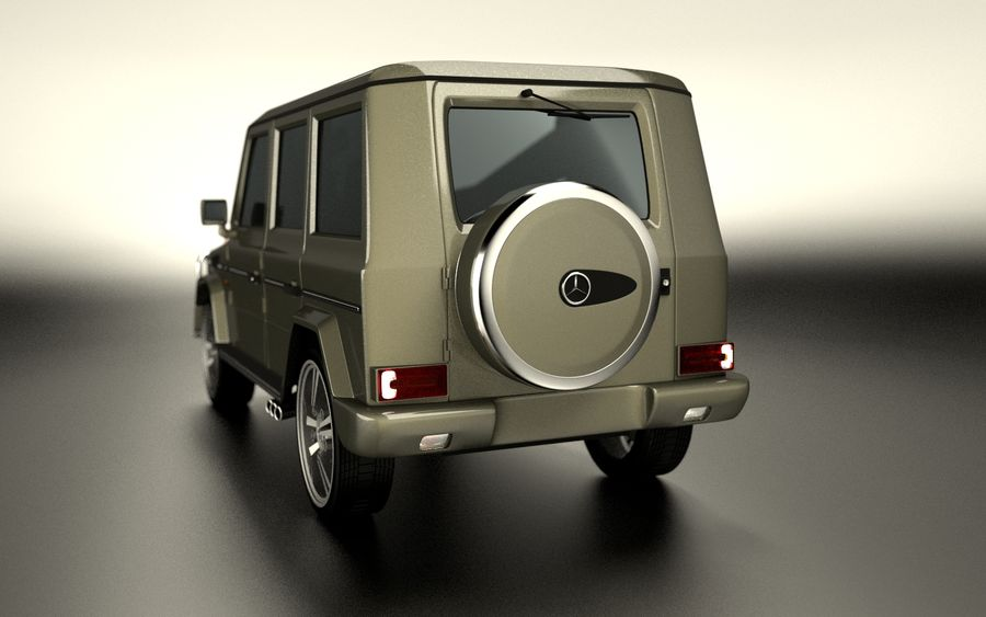 G-Class Mercedes Benz royalty-free 3d model - Preview no. 7