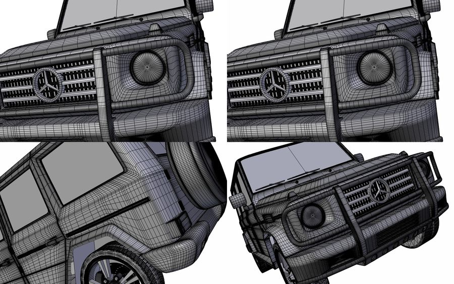 G-Class Mercedes Benz royalty-free 3d model - Preview no. 11