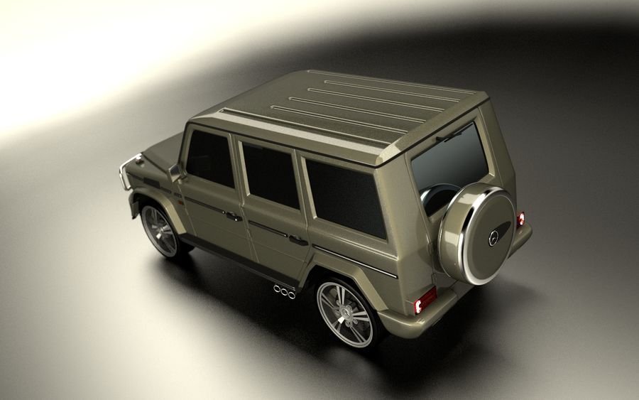 G-Class Mercedes Benz royalty-free 3d model - Preview no. 4