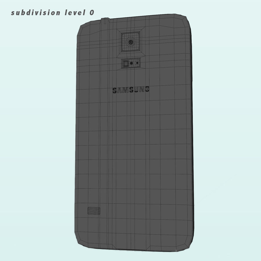 Samsung Galaxy S5 royalty-free 3d model - Preview no. 9