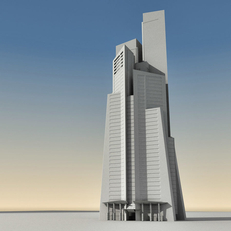 Modern gebouw 022 royalty-free 3d model - Preview no. 18