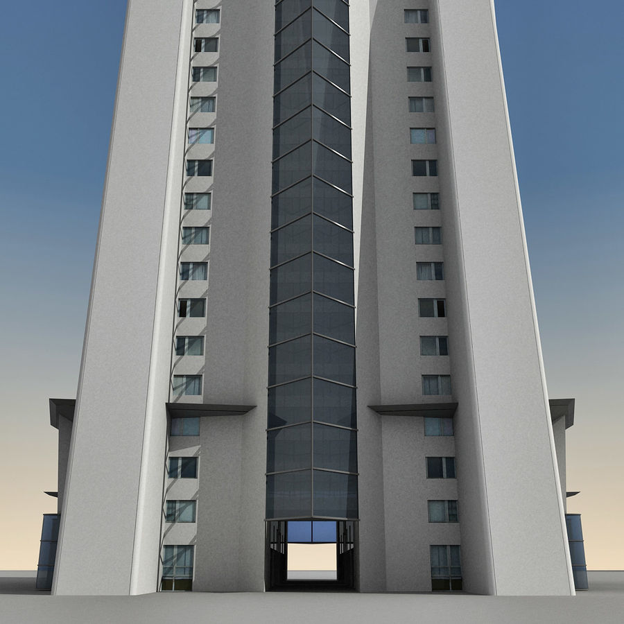 Modern gebouw 022 royalty-free 3d model - Preview no. 14
