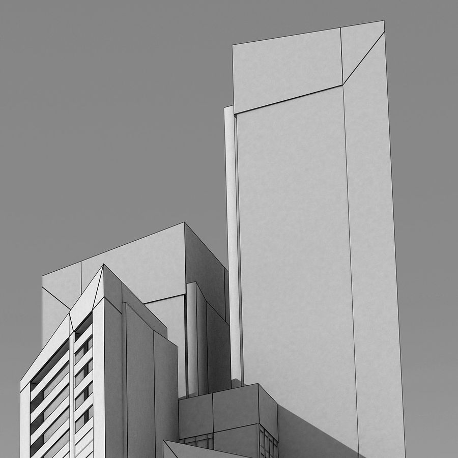 Modern gebouw 022 royalty-free 3d model - Preview no. 7