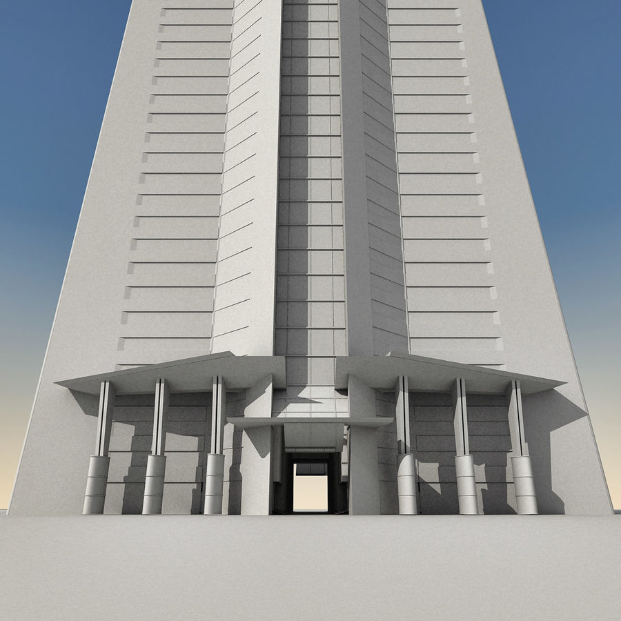 Modern gebouw 022 royalty-free 3d model - Preview no. 27