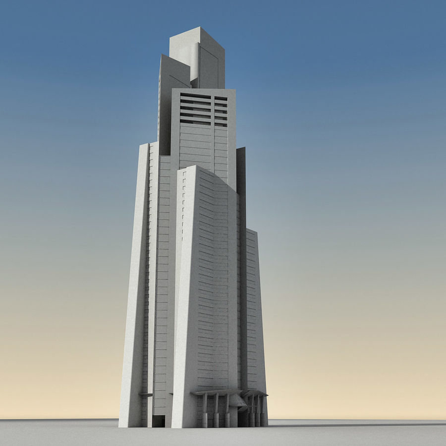 Modern gebouw 022 royalty-free 3d model - Preview no. 19