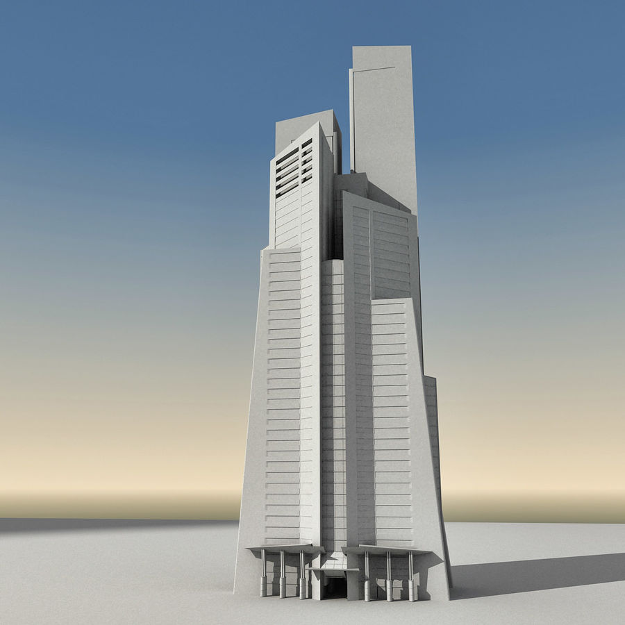 Modern gebouw 022 royalty-free 3d model - Preview no. 25