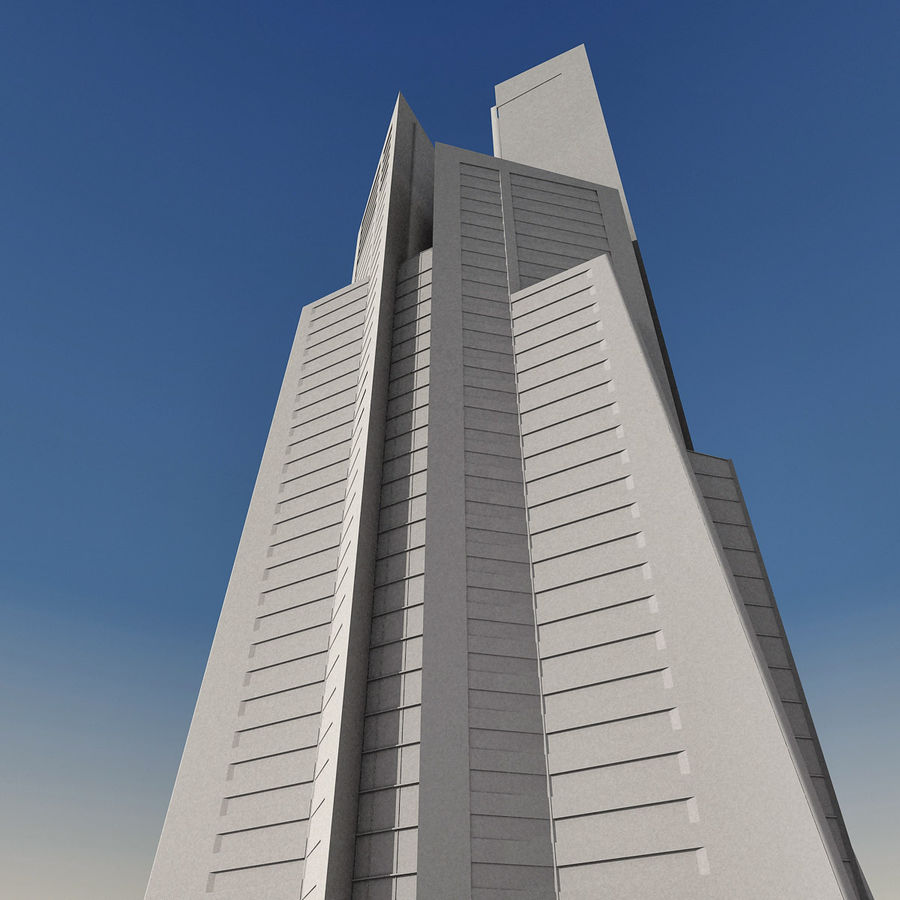 Modern gebouw 022 royalty-free 3d model - Preview no. 28