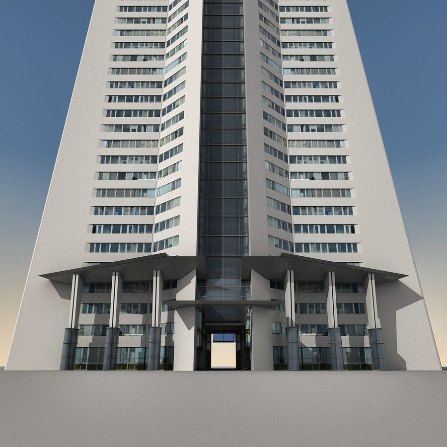 Modern gebouw 022 royalty-free 3d model - Preview no. 12