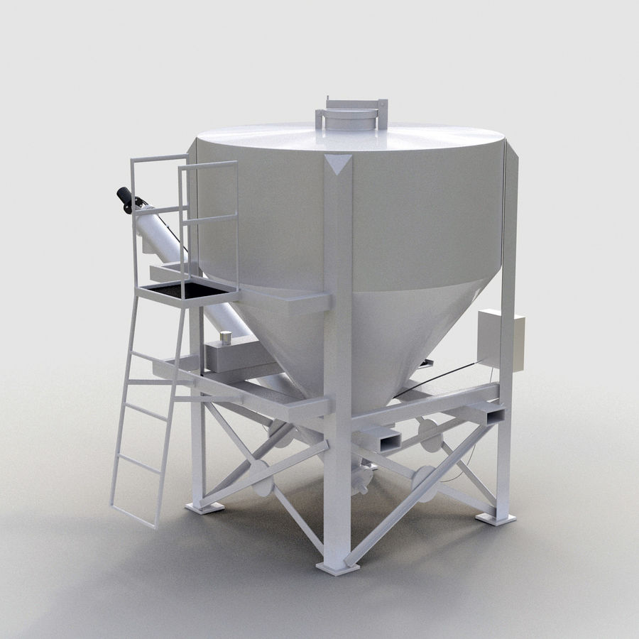Cement Silo Set royalty-free 3d model - Preview no. 3