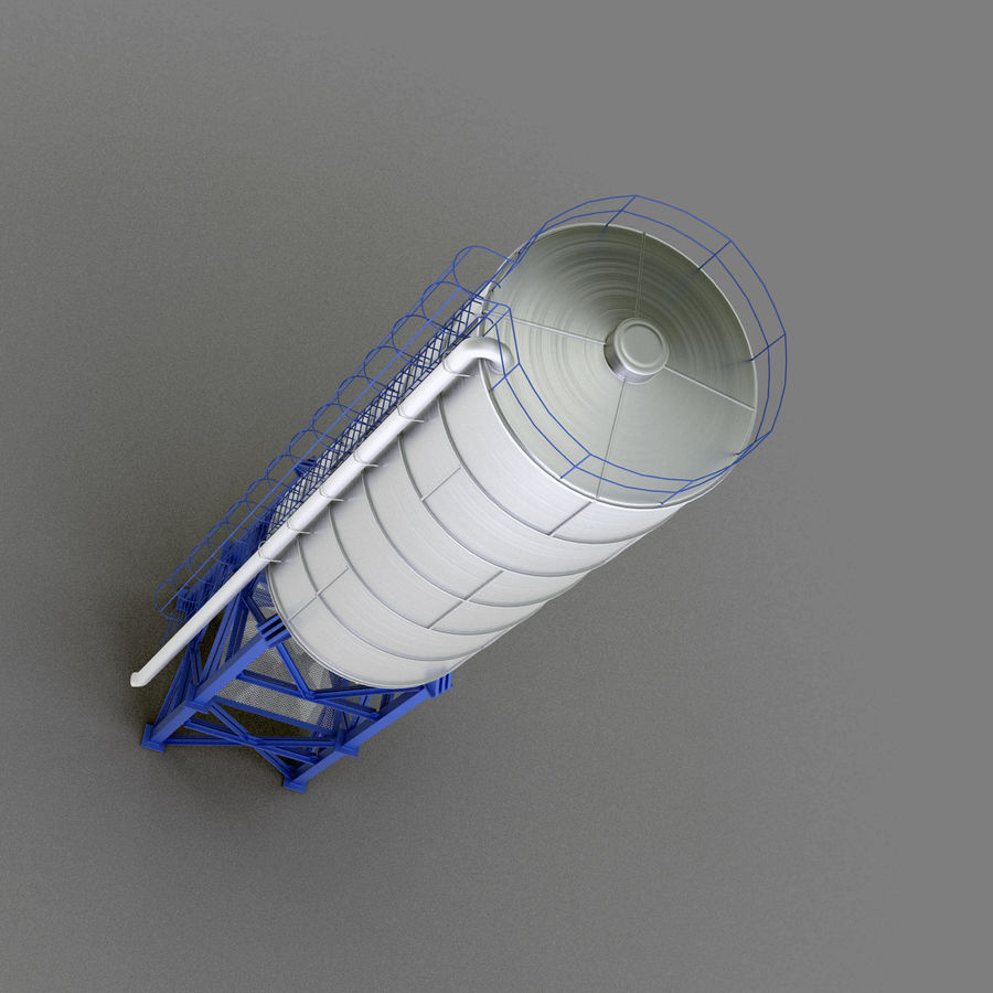 Cement Silo Set royalty-free 3d model - Preview no. 20