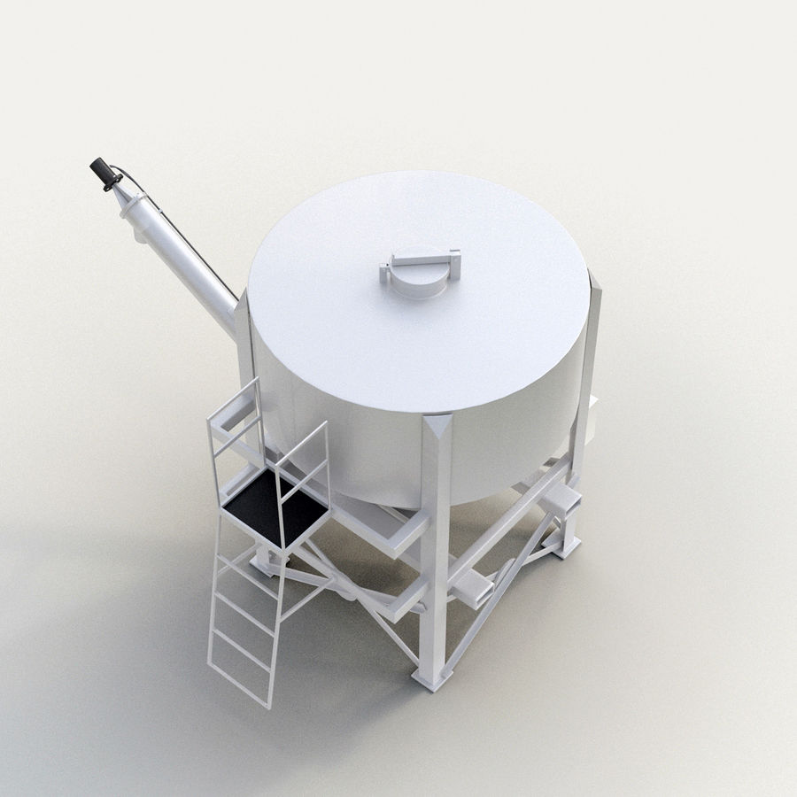 Cement Silo Set royalty-free 3d model - Preview no. 6