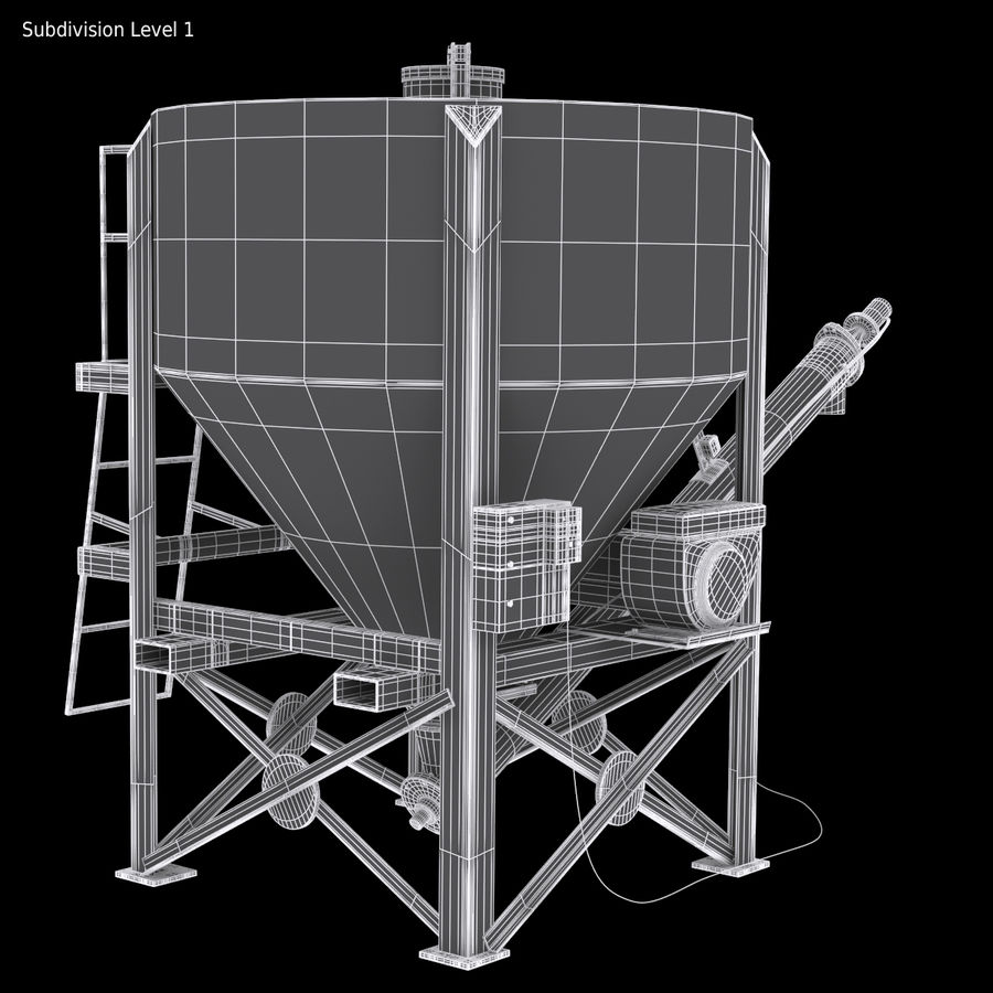 Cement Silo Set royalty-free 3d model - Preview no. 15