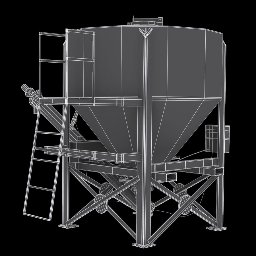 Cement Silo Set royalty-free 3d model - Preview no. 11