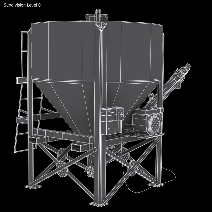 Cement Silo Set royalty-free 3d model - Preview no. 14