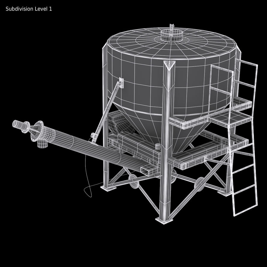 Cement Silo Set royalty-free 3d model - Preview no. 13