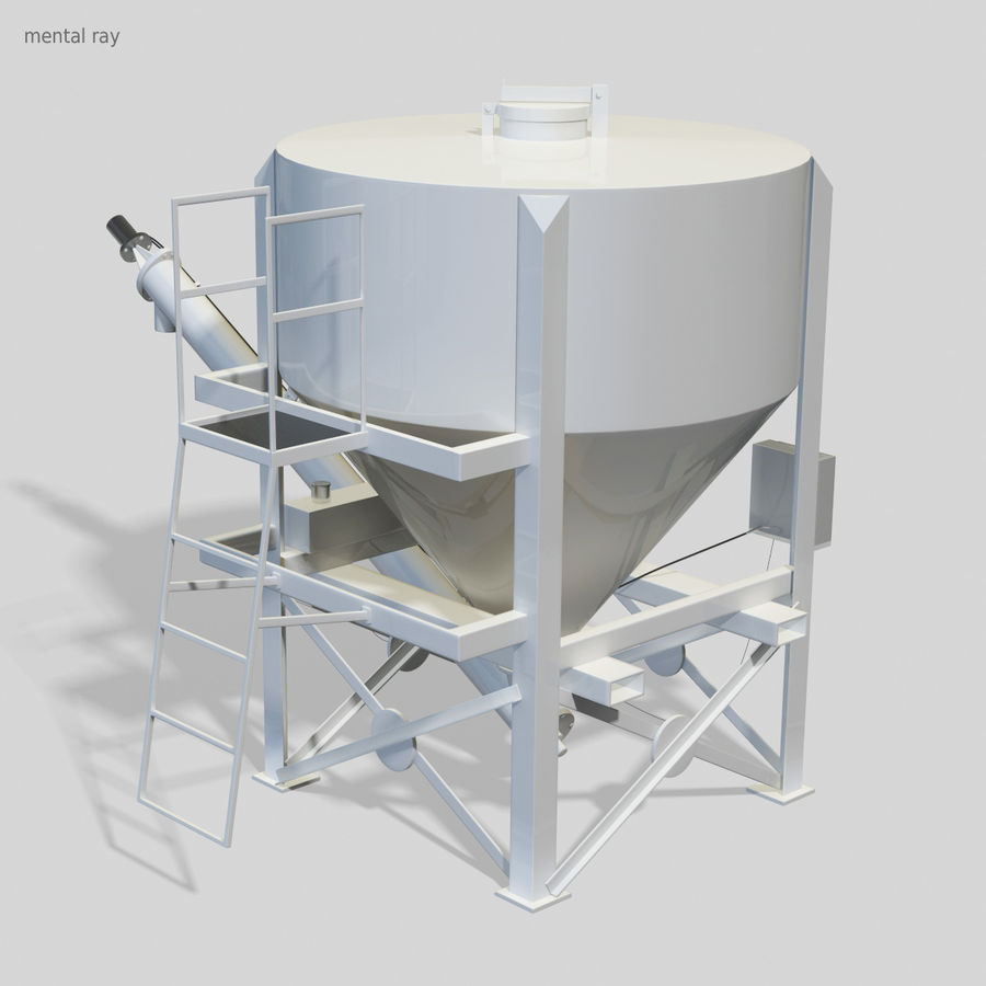 Cement Silo Set royalty-free 3d model - Preview no. 9