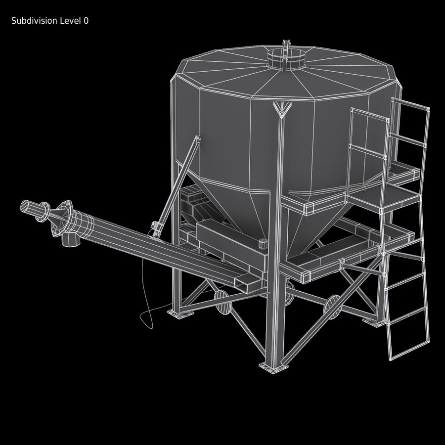 Cement Silo Set royalty-free 3d model - Preview no. 12