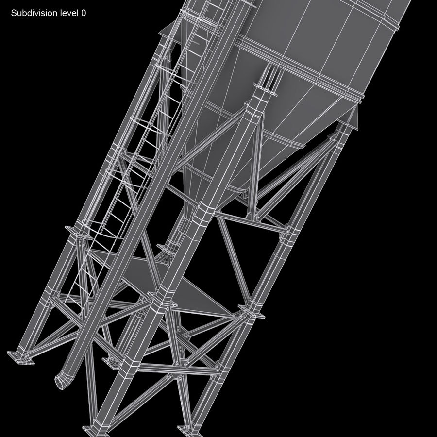 Cement Silo Set royalty-free 3d model - Preview no. 28