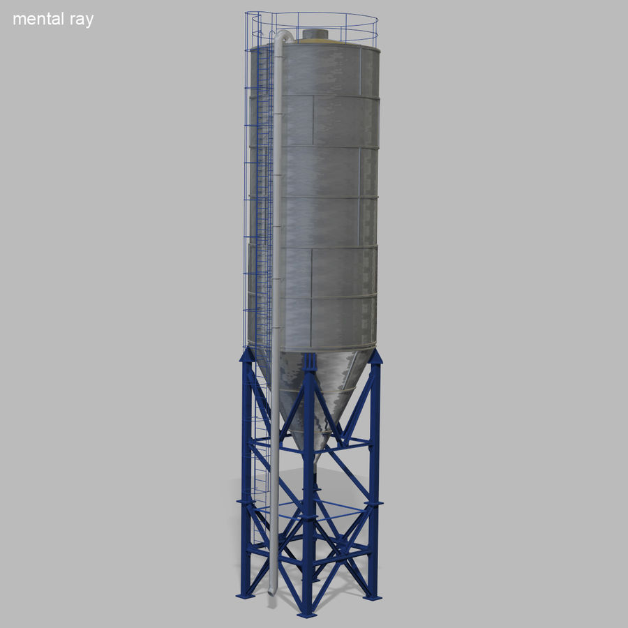 Cement Silo Set royalty-free 3d model - Preview no. 22