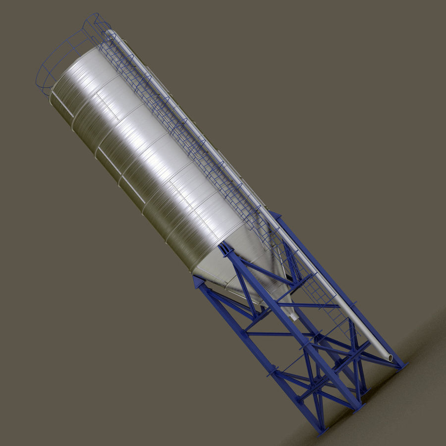 Cement Silo Set royalty-free 3d model - Preview no. 21
