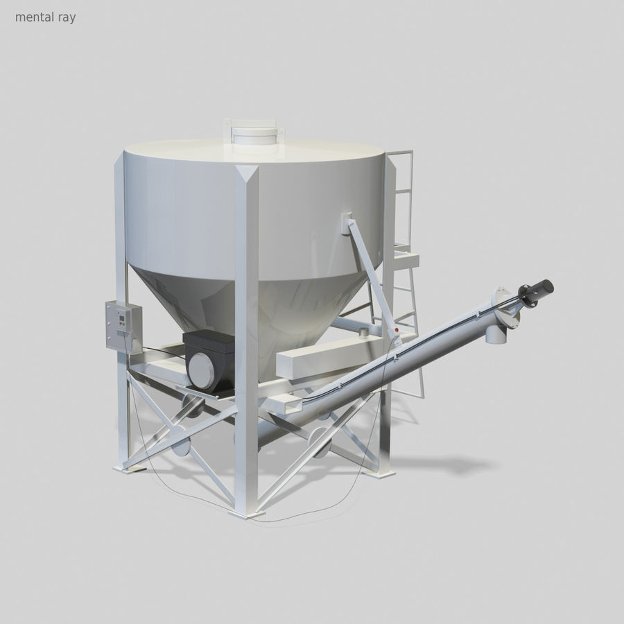 Cement Silo Set royalty-free 3d model - Preview no. 8
