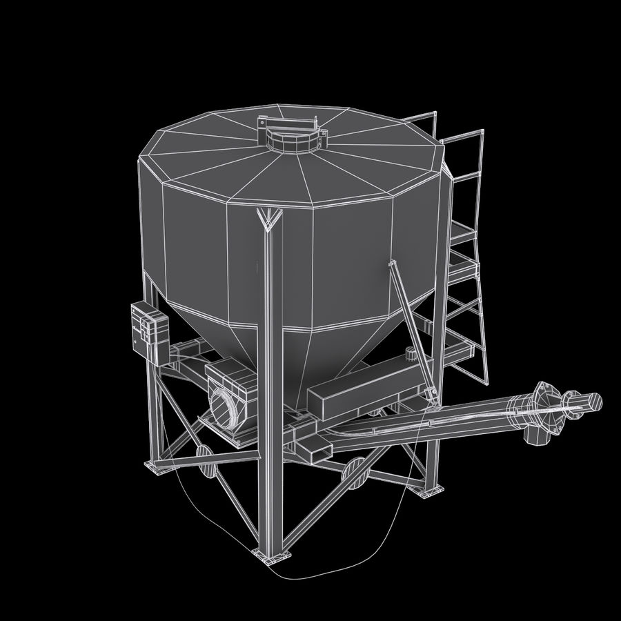 Cement Silo Set royalty-free 3d model - Preview no. 10