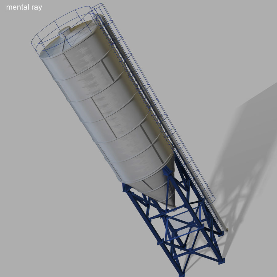 Cement Silo Set royalty-free 3d model - Preview no. 23