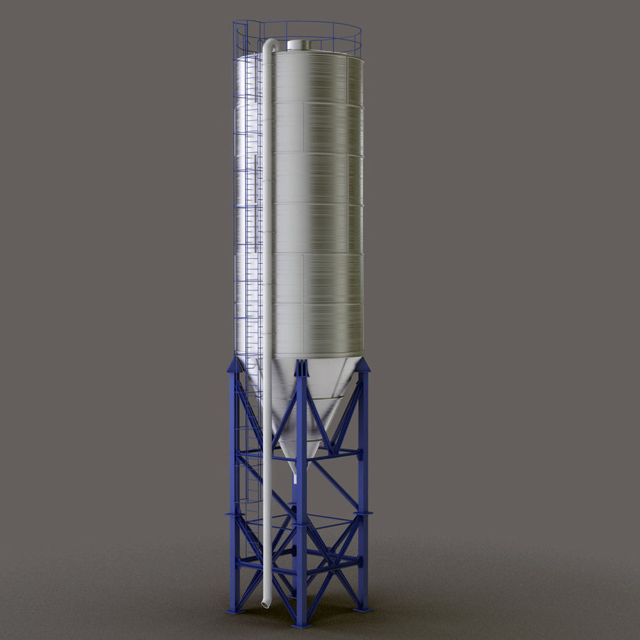 Cement Silo Set royalty-free 3d model - Preview no. 16