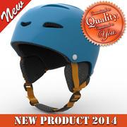 滑雪头盔型号 3d model