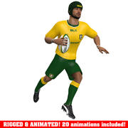 Gracz rugby Animowany A 3d model