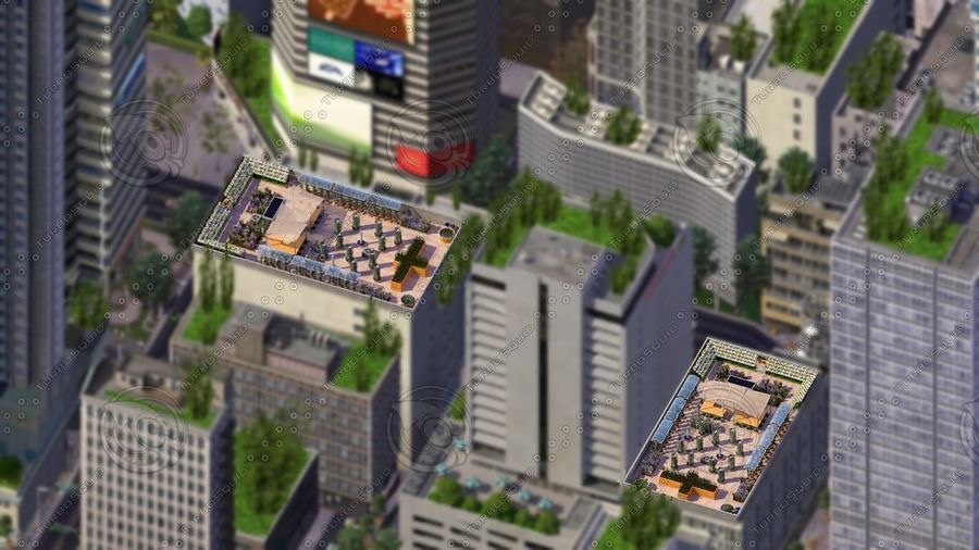 Giardino sul tetto royalty-free 3d model - Preview no. 1