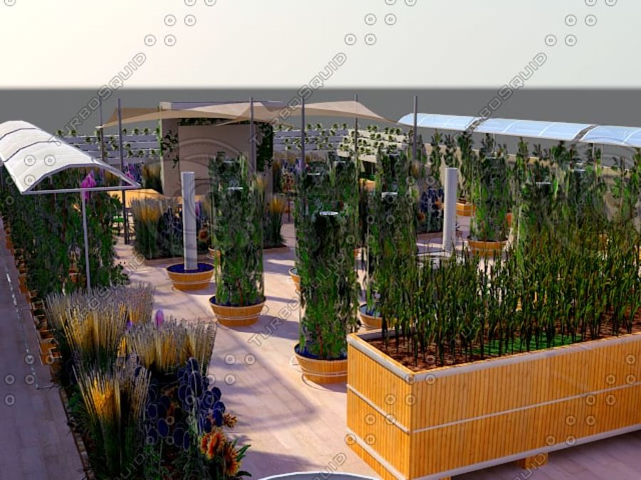 Giardino sul tetto royalty-free 3d model - Preview no. 6