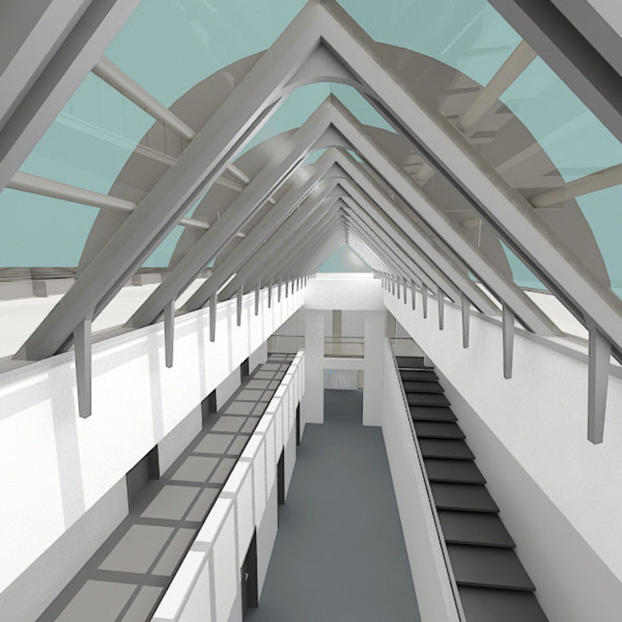 Moderne architectuur royalty-free 3d model - Preview no. 4