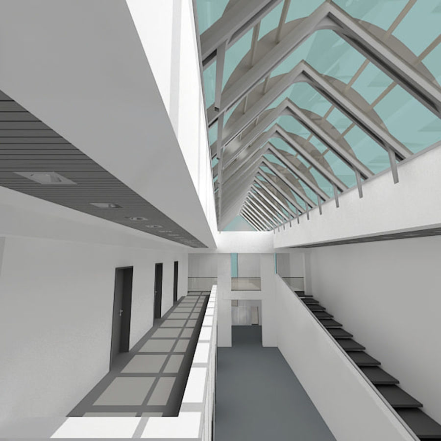 Moderne architectuur royalty-free 3d model - Preview no. 3