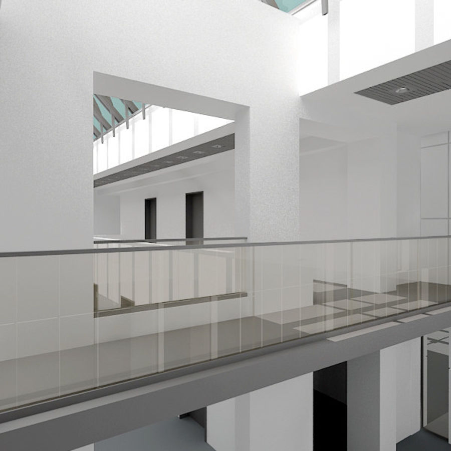 Moderne architectuur royalty-free 3d model - Preview no. 6